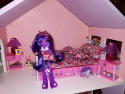 Детская мебель для кукол Gloria 99001 Спальня Барби, кровать, лампы