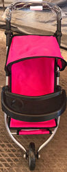 Детская прогулочная трехколесная коляска для кукол Melogo 9377 B-T столик б