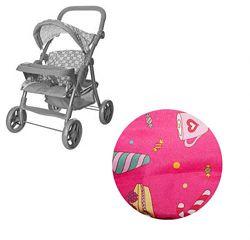 Прогулочная коляска для кукол Melogo 9337 столик для кормления, мороженое