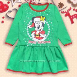 Платье детское утепленное для девочки Минни на 80, 92см.