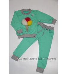 Костюм детский демисезонный для девочки Мороженко 80-92см