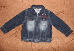 Джинсовая куртка Chicco 92 размер на 2-3 года. Джинсовый пиджак, рубашка