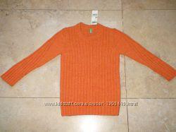 Новый фирменный  теплый свитер Benetton, 4-5 лет, 116р.