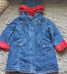 Фирменная, джинсовая, оригинальная курточка tommy hilfiger