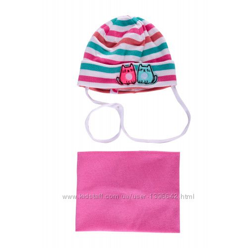 Комплект для девочки Рия шапка хомут Dembohouse Дембохаус
