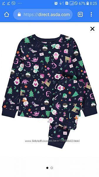 Пижама GEORGE с Рождественским дизайном на 13-14 лет 164см