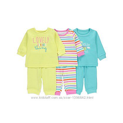 Пижамы для девочек George , размер 18-24мес. , рост 86-92см