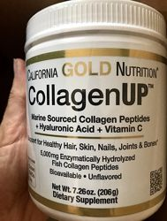 Морской Коллаген California Gold Nutrition, 206 грамм Collagen Up