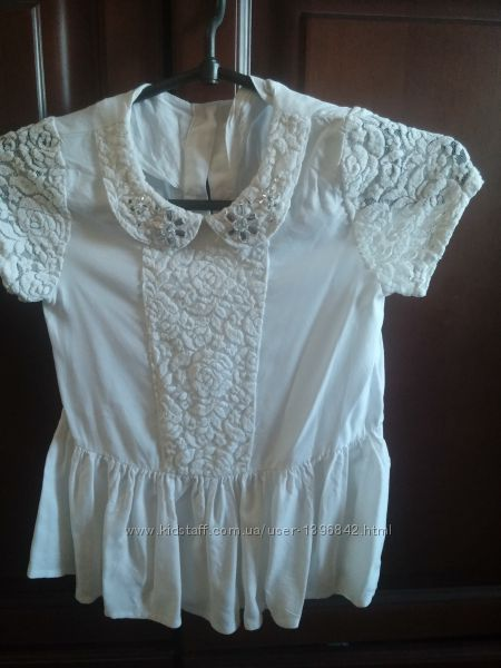 Нарядная белая блуза для первоклассницы