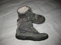 17, 5 см стелька, зимние ботинки с гортексом Pepino, замшевые