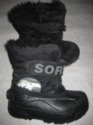 18 см стелька, зимние термо сноубутсы Sorel, телые сапоги