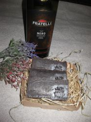 эко мыло ручной работы Красное вино омолаживающее