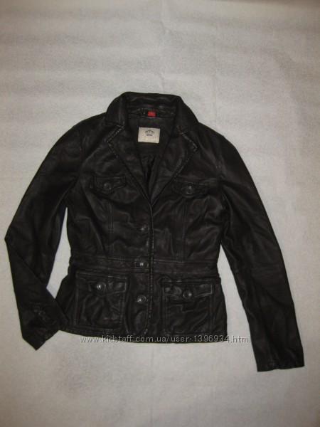 170-175 рост, шикарный кожаный пиджак от Esprit