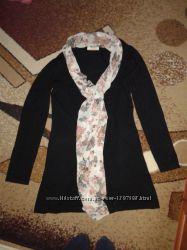 Стильная накидка с шарфом