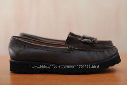 Женские коричневые кожаные туфли, лоферы Shoon. 37 размер. Оригинал