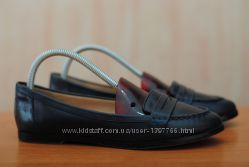 Кожаные черные женские туфли, балетки Dune, 39 размер. Оригинал