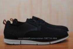Черные кожаные мужские туфли Clarks Trigenic. 44, 5 размер. Оригинал