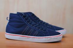 Синие мужские высокие кеды, кроссовки Adidas Nizza, 43 размер. Оригинал