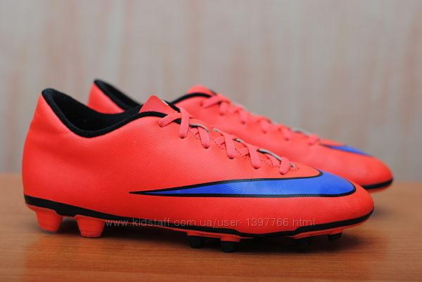Красные мужские бутсы с пластиковыми шипами Nike Mercurial, найк, 41 размер