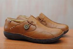 Женские кожаные коричневые кроссовки, туфли Clarks, кларкс. 37 размер