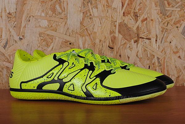 Футбольные бампы, футзалки Adidas X 15. 3 IN, адидас. 45 - 46 размер