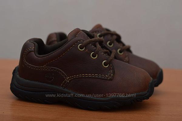 Детские кожаные ботиночки Timberland, тимберленд, 23 размер. Оригинал