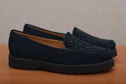 Женские темно-синие кожаные туфли, мокасины John Lewis, 36 размер. Оригинал