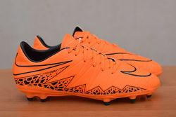Оранжевые бутсы с пластиковыми шипами Nike Hypervenom, 39 размер. Оригинал