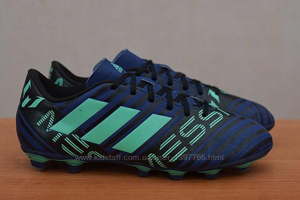 Бутсы с пластиковыми шипами Adidas Nemeziz Messi 17.4 FxG, 41 размер