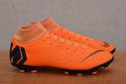 Оранжевые бутсы с пластиковыми шипами Nike Mercurial, 39 размер. Оригинал