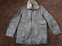 Чоловіча шкіряна куртка Sanimo зима-осінь 7fae8befccd69