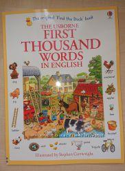 First 1000 Words in English книга на английском языке для детей Usborne