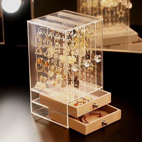 Органайзер для украшений, ювелирных изделий, аксессуаров, шкатулка, витрина