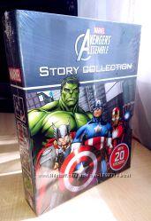 MARVEL AVENGERS подарочный набор 4 книги на английском языке для детей