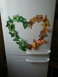 Магниты, бабочки на холодильник или на стену