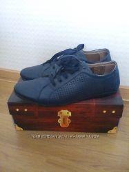 Кожанные туфли мокасины р39