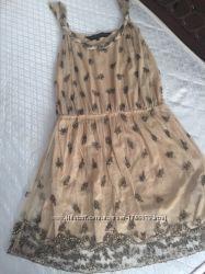 Новое красивое стильное платье вышитое бисером new look M-L