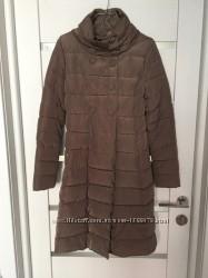 Стеганая деми куртка пуховик курточка удлиненное пальто плащ Oodji 36