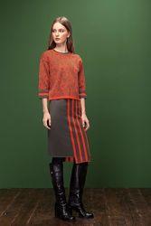 Шерстяной женский тёплый костюм набор юбка кофта Marshe S M