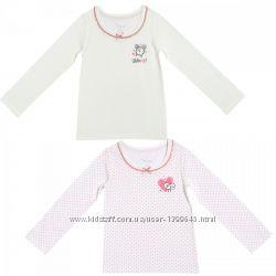 Футболки 2шт Chicco Underwear, р. 116 - 5-6 лет для девочки, длинный рукав