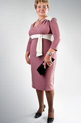 Трикотажное комфортное платье новое