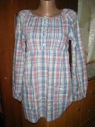 Блуза-туника с длинным рукавом на девочку 12-13 лет, рост 158-160 см