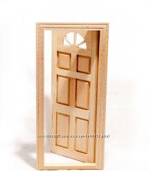 Дверь межкомнатная с аркой для домика в миниатюре