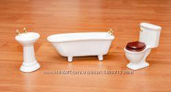 Набор сантехники для домика в миниатюре