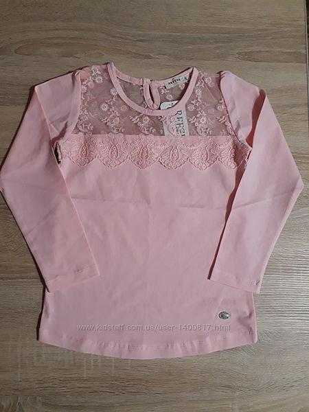 Нарядна блузка кофтинка для дівчинки на ріст 116, 128, 134, 140см.