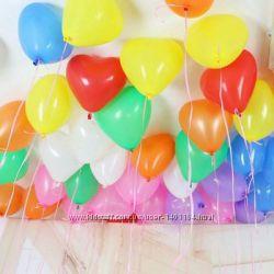 Воздушные шарики шар Сердце разноцвет средние Италия повітряні куль
