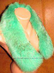 Воротник песец ярко-зелёный
