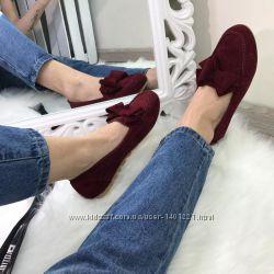 Красивейшие туфельки из эко-замша. размер 38. стелька 24. 5 см.