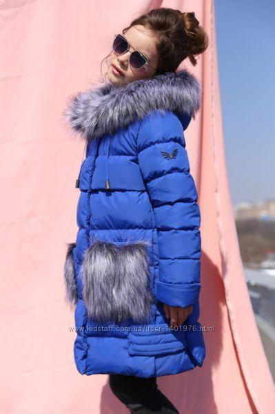 Модные зимние куртки, пальто, пуховики для девочек, качество отличное