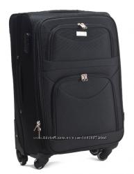 Большой чемодан тканевый 70 см на 4-х колесах